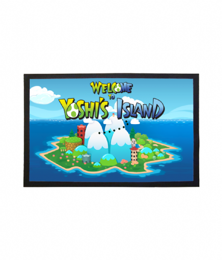 Welcome To Yoshi's Island Super Mario Retro Gaming Inspired Home Doormat Mat